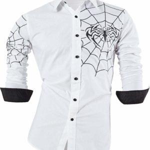 Camisa con tatuajes blanca con telarañas en Con Tatuajes