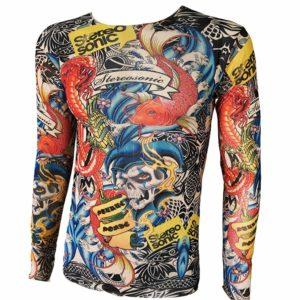 camiseta con tatuajes estereo sonic en Con Tatuajes
