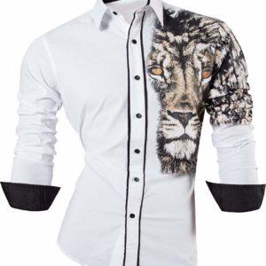 camisa con tatuajes blanca con leon en Con Tatuajes