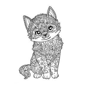 tatuaje de gatito mandala en Con Tatuajes