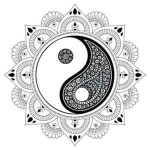Tatuaje mandala Ying Yang en Con Tatuajes