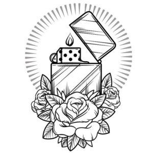 dibujos con tatuajes para colorear en Con Tatuajes